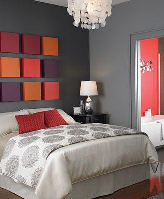 des tableaux uvres d art pour la t te de lit floriane. Black Bedroom Furniture Sets. Home Design Ideas