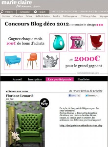 concours blog d co 2012 marie claire maison avec made in