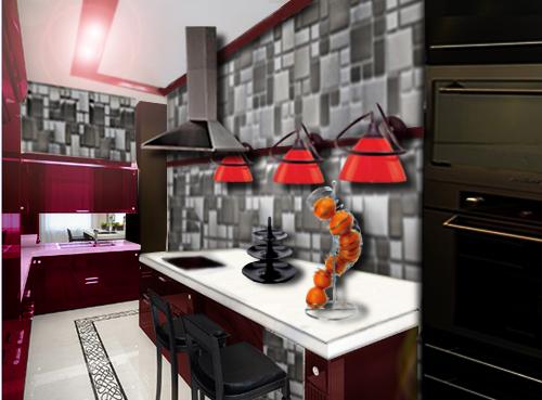Cuisine moderne floriane lemari for Cuisine etroite design