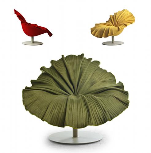 un fauteuil en forme de fleur exotique floriane lemari. Black Bedroom Furniture Sets. Home Design Ideas