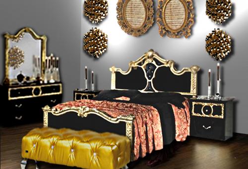 Chambre noir et or floriane lemari - Deco chambre dore ...