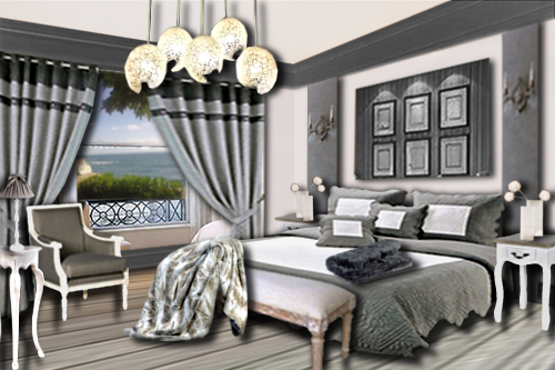 une chambre romantique floriane lemari. Black Bedroom Furniture Sets. Home Design Ideas