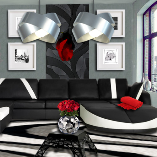 Salon design floriane lemari for Salon design noir et blanc