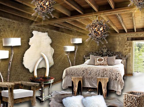 Ambiance dacha un style inspir des r sidences for Chambre en bois flotte