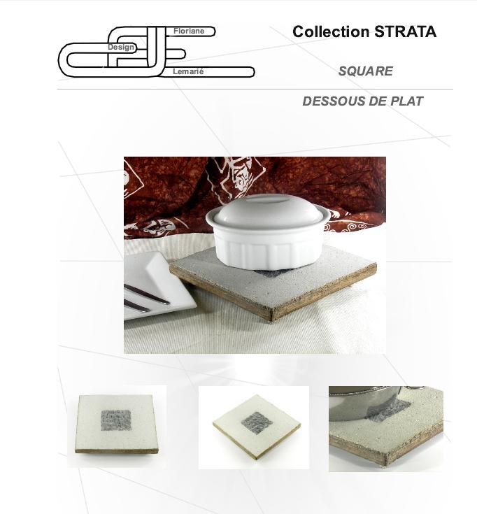 Objet design en béton par Floriane Lemarié