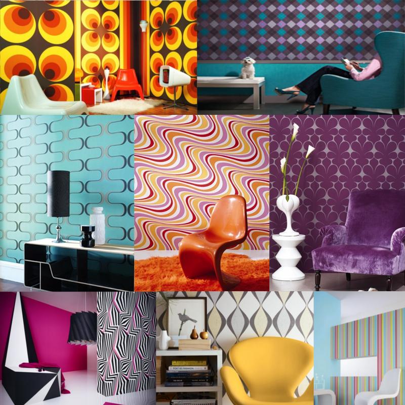 Papiers peints design tendance ann es 70 floriane lemari - Decoration chambre psychedelique ...