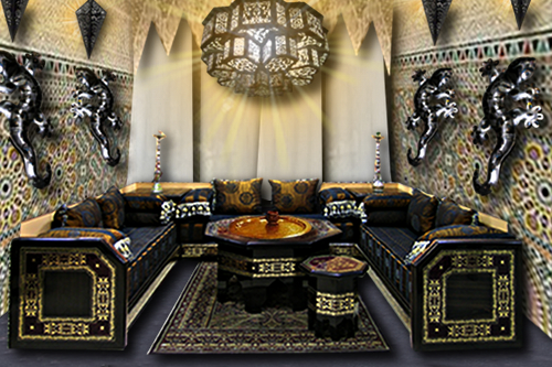 salon marocain floriane lemari. Black Bedroom Furniture Sets. Home Design Ideas