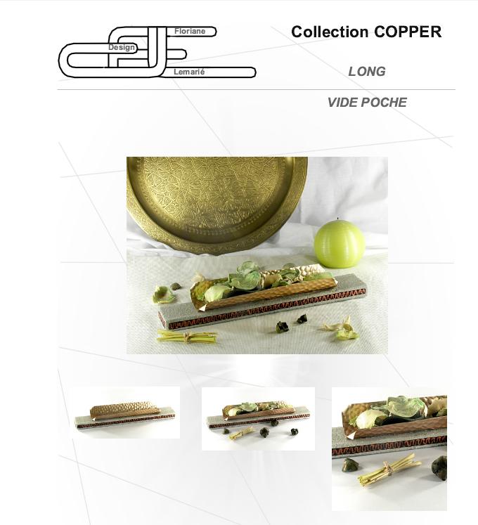 Vide poche en béton et cuivre par Floriane Lemarié