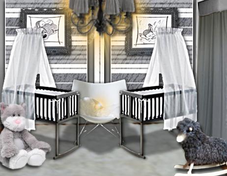 Décoration d'une chambre pour des jumeaux