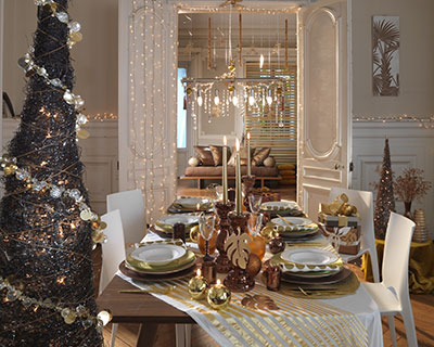 Inspirations de belles tables pour no l floriane lemari - Decoration de table de noel a fabriquer ...