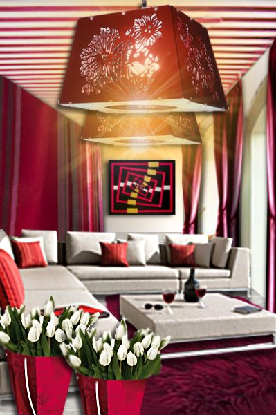 Id e d co un patio rouge et blanc floriane lemari for Un autre salon bordeaux