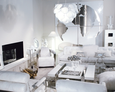 All white like these days: white interiors like snow ...