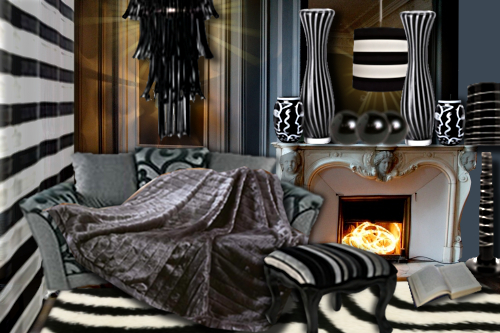 id e d co un salon ray noir et blanc floriane lemari. Black Bedroom Furniture Sets. Home Design Ideas