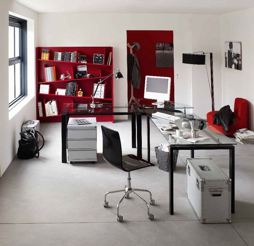 comment am nager et d corer son bureau floriane lemari. Black Bedroom Furniture Sets. Home Design Ideas