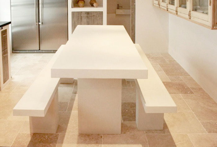 Le b ton design la d co floriane lemari - Table en beton cellulaire ...