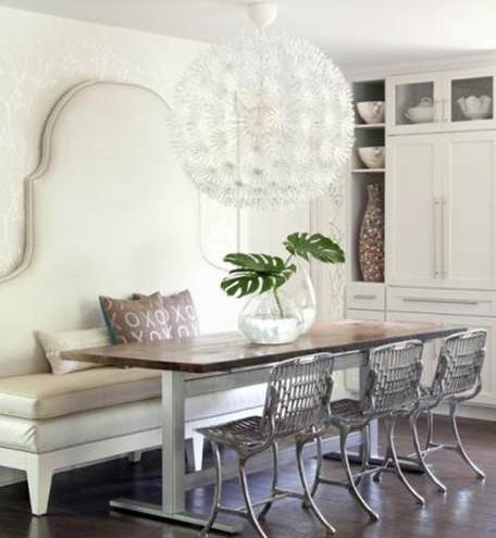 Un amour de banquette floriane lemari for Table et banc salle a manger