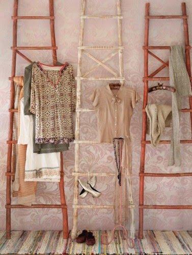 ma tresse d co sur une chelle perch e floriane. Black Bedroom Furniture Sets. Home Design Ideas