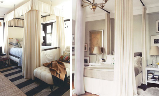 10 id es pour transformer votre lit en baldaquin floriane lemari. Black Bedroom Furniture Sets. Home Design Ideas