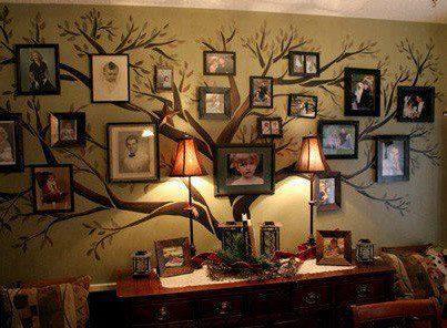 L'idée déco du dimanche: l'arbre généalogique