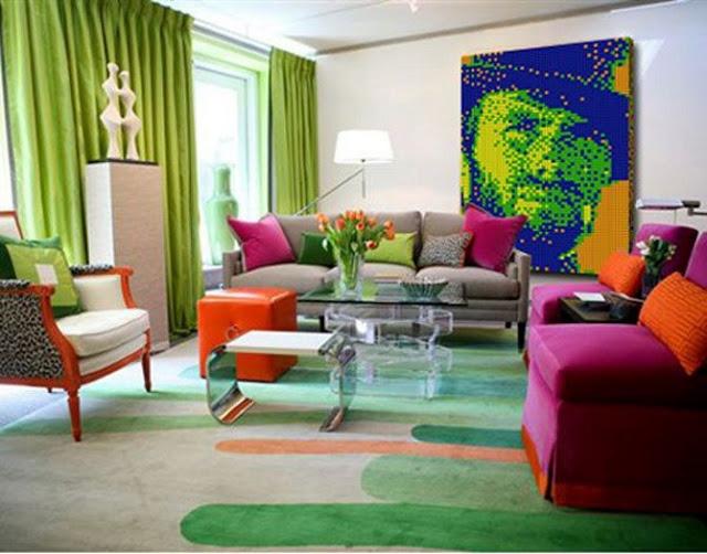 Pop art une d coration vitamin e floriane lemari for Arredamento colorato