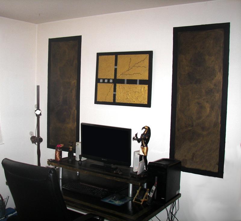 D coration d 39 un bureau dans une ambiance gypte ancienne floriane lemari - Decoration des bureaux ...