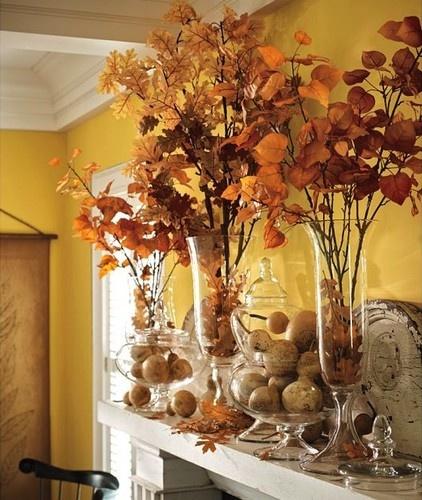 décoration couleurs d'automne