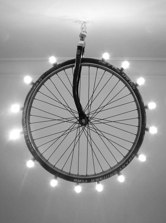 décoration lampe vélo