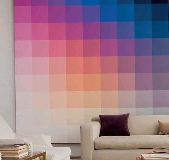 décoration dégradé de couleurs