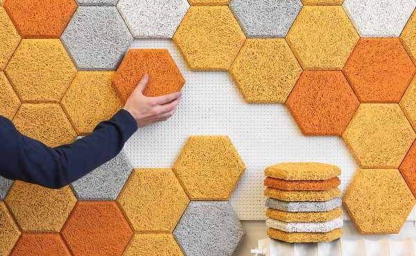 décoration dalles isolantes au mur