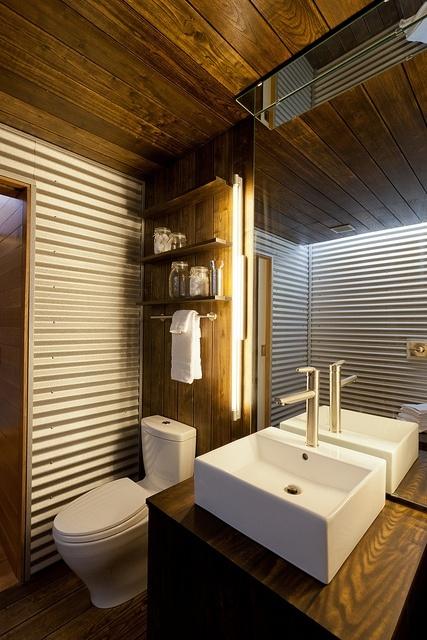Le bois habille la salle de bain ! - Floriane Lemarié