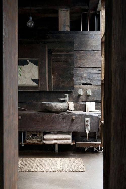 décoration salle de bain en bois