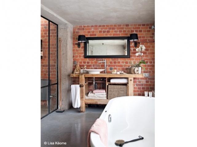 la brique rouge cr e l 39 esprit new yorkais floriane lemari. Black Bedroom Furniture Sets. Home Design Ideas