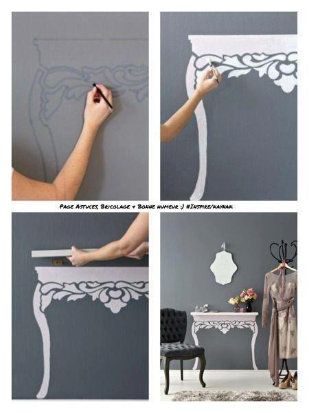 diy décoration console