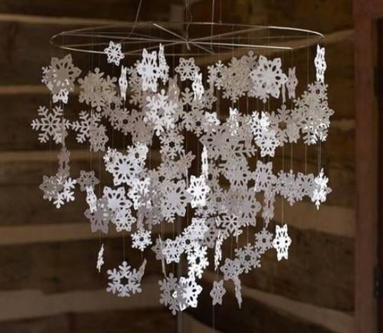 l 39 id e d co du dimanche un lustre flocon de neige pour. Black Bedroom Furniture Sets. Home Design Ideas