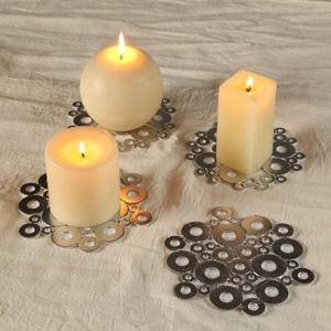 L 39 id e d co du dimanche des porte bougies avec des - Decoration avec des bougies ...
