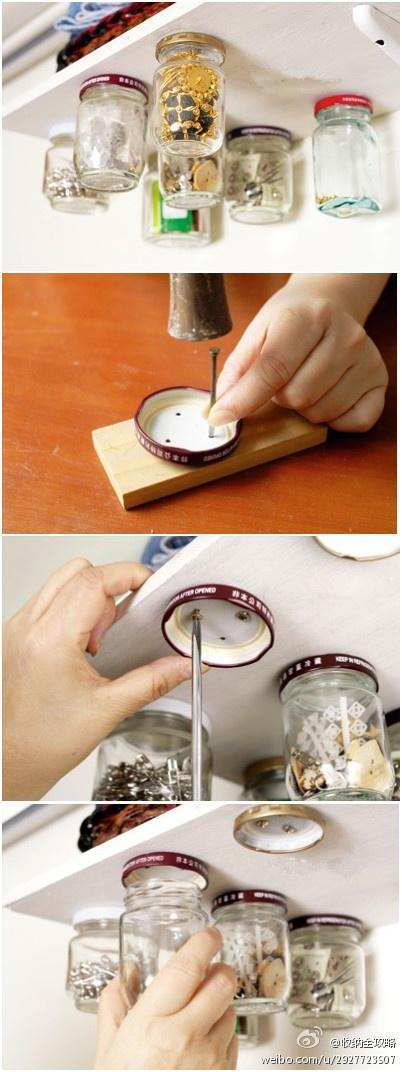 Décoration pots en verre