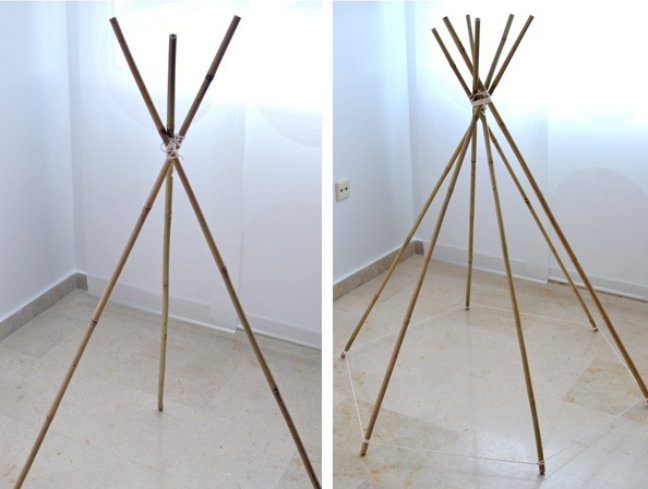 diy r aliser un tipi pour les enfants floriane lemari. Black Bedroom Furniture Sets. Home Design Ideas