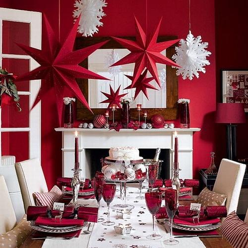 Décoration rouge et blanc