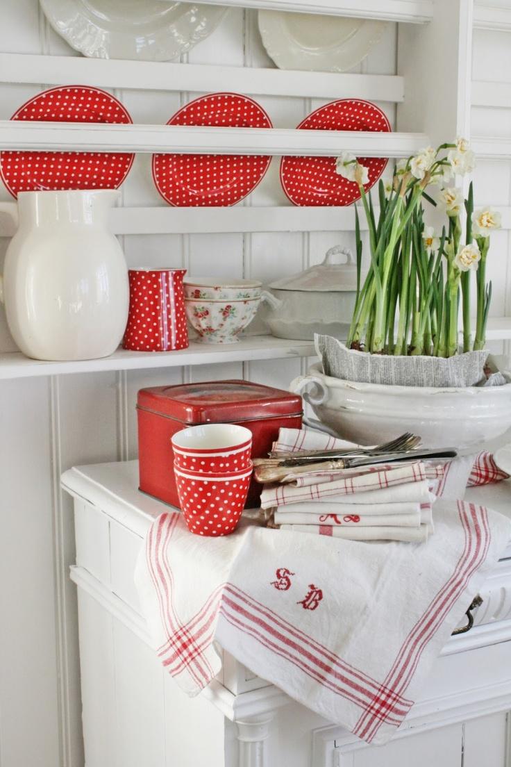 La déco en rouge et blanc   floriane lemarié