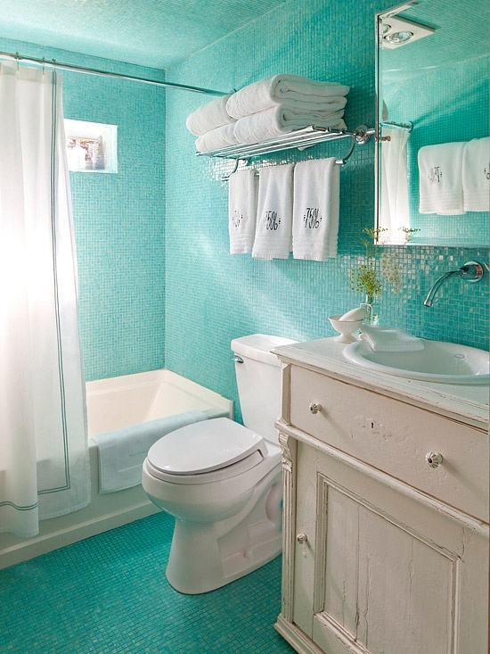 Beautiful Salle De Bain Turquoise Et Beige Gallery - Awesome ...