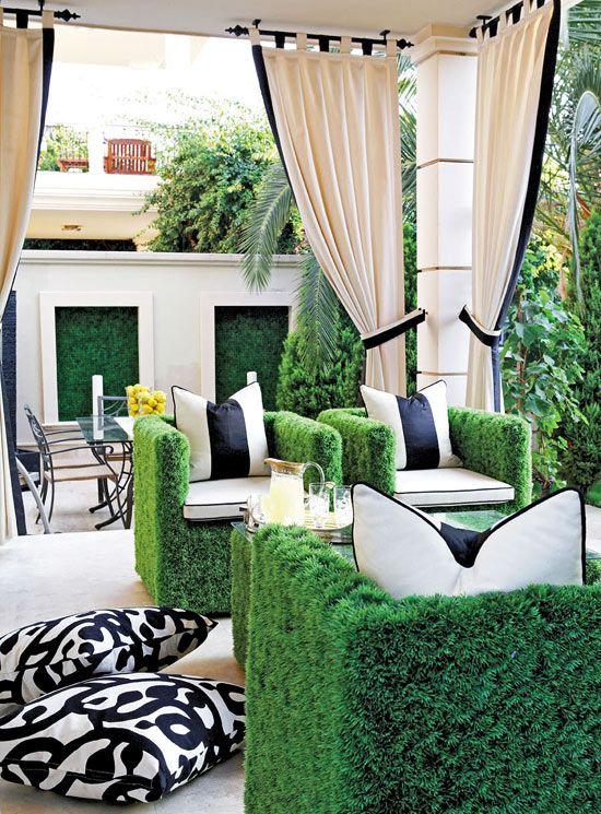 Décoration salon de jardin