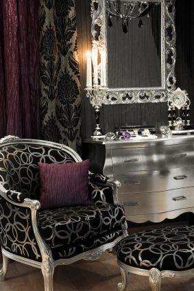 Décoration noir et violet