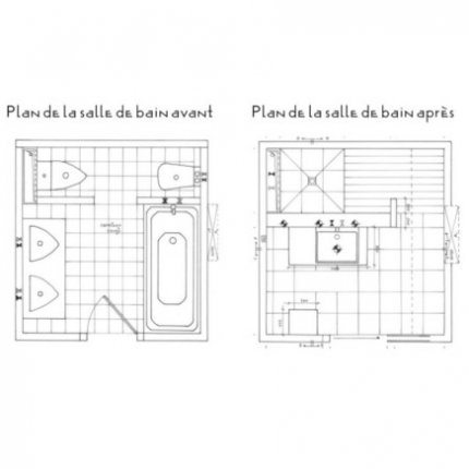 Plan salle de bain douche italienne photos de conception for Plan de douche et toilette