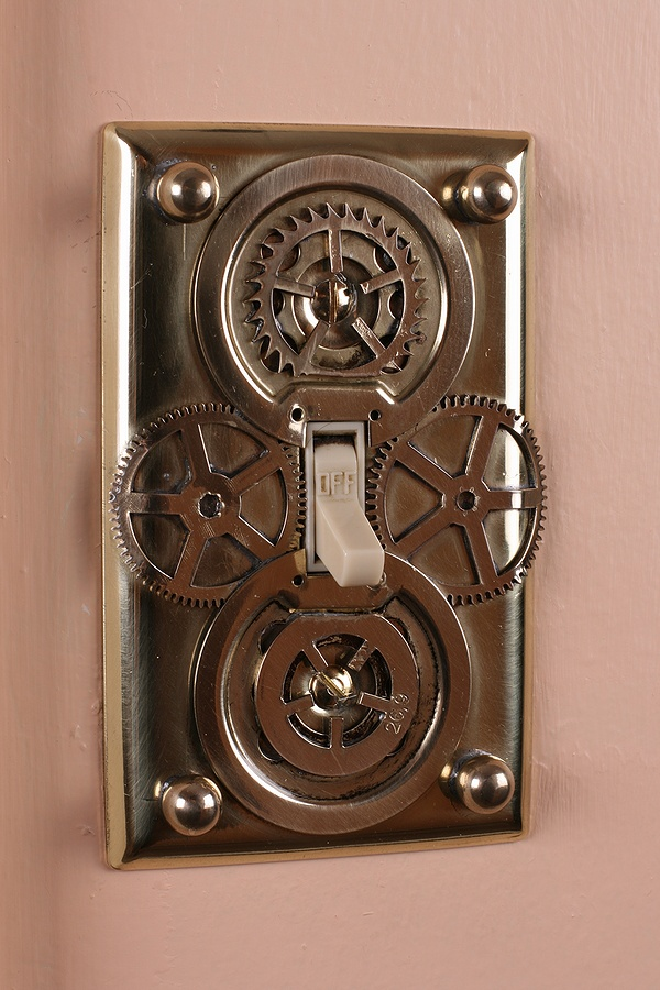 diy fabriquer un interrupteur fa on steampunk. Black Bedroom Furniture Sets. Home Design Ideas