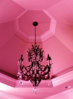 Décoration rose et noir