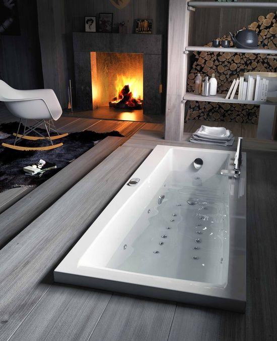Décoration cheminée et salle de bain