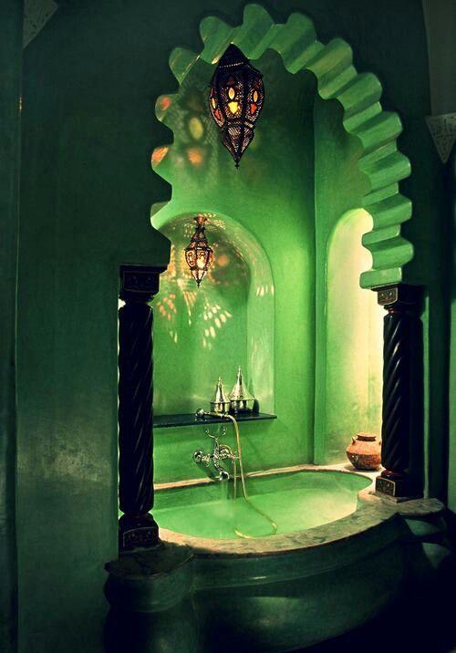 Décoration vert émeraude
