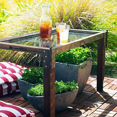 Décoration table de jardin