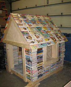 Décoration cabane bibliothèque
