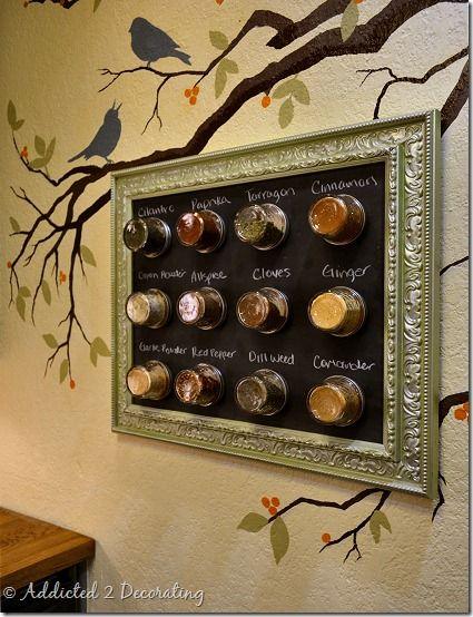 Diy fabriquer un tableau pices floriane lemari - Fabriquer un cadre pour tableau ...